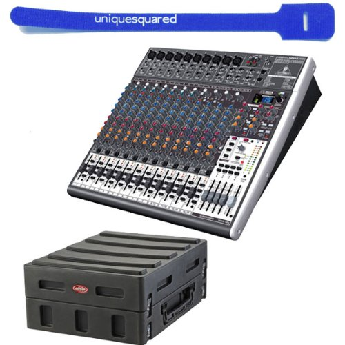Behringer Xenyx X2442Usb 24-Channel Usb Interface Mixer W/ 14U Mixer Case & Cable Tie