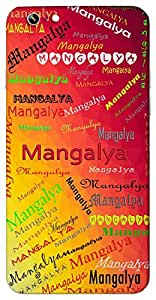 Mangalya (Popular Girl Name) Name & Sign Printed All over customize & Personalized!! Protective back cover for your Smart Phone : Samsung Galaxy Note-5