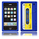 Cassette Retro Tape Cover for iPhone 3G 3GS Gel Silicone Stylish Case Skin Blue from gadget Zoo