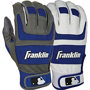 Franklin Shok-Sorb Pro Series Home and Away Adult Batting Gloves - Black by Franklin