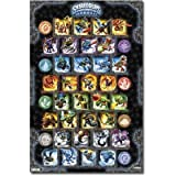 51a4hYxbMYL. SL160  Professionally Framed Skylanders Spyros Adventure Grid Video Game Poster   22x34 with RichAndFramous Black Wood Frame