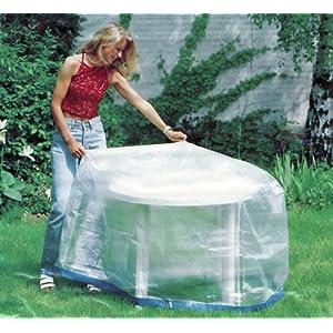 Schutzhulle Tisch Rund 125cm Gartenmobel Gartentisch Abdeckung Rund