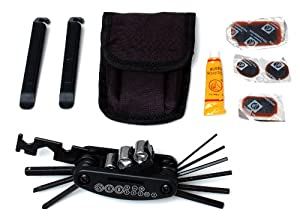 Multi Function Bike Multitool Bicycle Tool Patch Kit & Tire Levers 16 Function