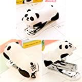 Cute Panda Mini Desktop Stapler&Staple Hand Stapler Office/Home Stapler(6*2.5CM)