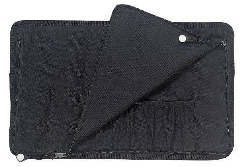 Messermeister 10-Pocket Padded Gadget Knife Roll, Black