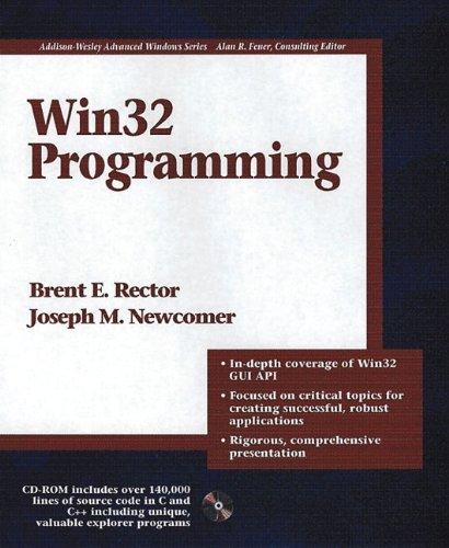 Win32 Programming (Addison-Wesley Advanced Windows Series)(2 Vol set)