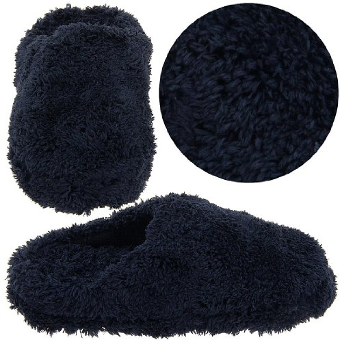 Cheap Black Terry Fuzzy Clog Slippers for Women (B004UN847Y)