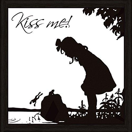 Bild mit Rahmen Kunstdruck Bilder Artland Schrift Jule: Küss mich in verschiedenen Größen Riesenauswahl in unsrem Händlershop!