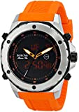 Bulova Men's 98C118 Analog-Digital Display Japanese Quartz Orange Watch
