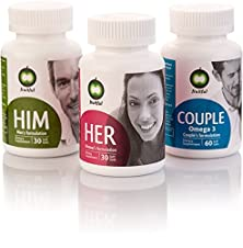 buy Personal Pack Of 4 Fruitful For Her And Him Fertility Prenatal Supplement. Package Provides Three Dedicated Formulas, For Him, For Her And For Couple. Includes App, Blog & Fertility Supplement