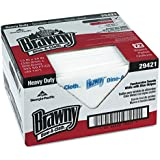 "Brawny Chef Towel,  Dine-A-Cloth 29421 White-Blue Stripe Heavy Duty Foodservice Towel, 13"" Width x 24"" Length (Box of 72)"