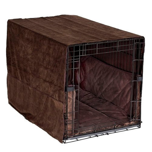 Pet Dreams Plush Cratewear Set, Coco Brown, Fits 24-Inch Crates, 3-Piece front-950838