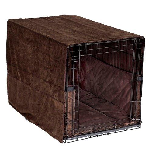 Pet Dreams- Plush Dog Crate Pad, Crate Cover and Bumper Set- Coco Brown- Small (Crate Bumper compare prices)