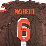 Autographed/Signed Baker Mayfield Cleveland Football Brown Jersey Beckett BAS COA