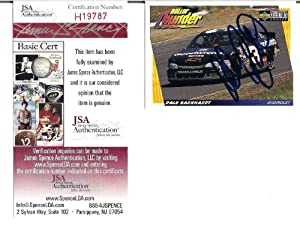 Dale Earnhardt Autographed Signed 1997 Upper Deck Collectors Choice Card W JSA by Hollywood Collectibles