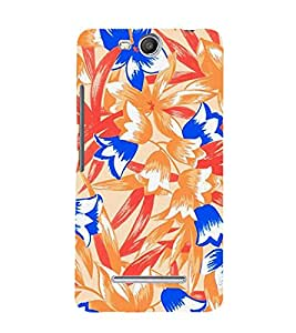 Abstract Floral Painting 3D Hard Polycarbonate Designer Back Case Cover for Micromax Canvas Juice 3+ Q394 :: Micromax Canvas Juice 3Plus Q394