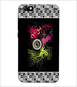 PrintDhaba Abstract Design D-3177 Back Case Cover for HUAWEI HONOR 4X (Multi-Coloured)