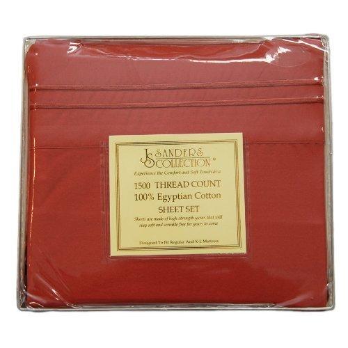 Js Sanders 1500 Series Sheet Set, King Size, Burnt Orange front-895875