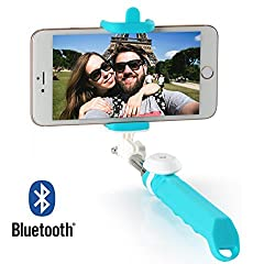 DMG Dispho Newest Cute Jelly Series Wireless Bluetooth Selfie Self Portrait Stick Monopod, Foldable and Lightweight with Embedded Bluetooth Remote Shutter for iPhone Samsung LG Moto Nokia Lumia HTC Xperia and other Smartphones iOS Android Cell Phones (Random Colors)