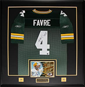 Brett Favre Green Bay Packers signed jersey frame by Midway Memorabilia
