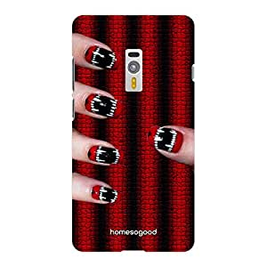 HomeSoGood Bloody Teeth Nail Art Fashion Multicolor 3D Mobile Case For OnePlus 2 (Back Cover)