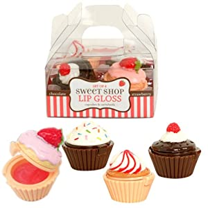 Sweet Shop Cupcake Lip Glosses - Set of Four by Cupcakes & Cartwheels
