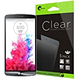 i-Blason LG G3 Screen Protector - 3 Pack Premium HD Clear Version (AT&T, Verizon, Sprint, T-mobile, All Carriers)