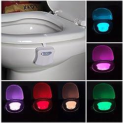 Magideal Body Motion Sensor Automatic LED Night Light Toilet Bowl Lamp W/ Hook