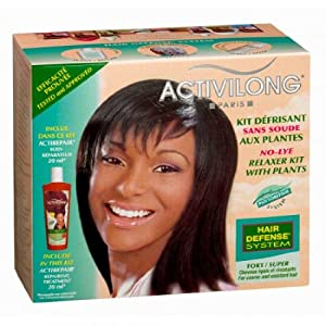 Activilong No-lye Relaxer Kit with Plants Super