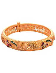 New Amrit Jewellers Gold Plated 1 Gram Gold Plated Bangles (1 Pair) For Women - B00QX3B40S