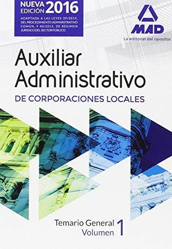 AUXILIARES ADMINISTRATIVOS DE CORPORACIONES LOCALES