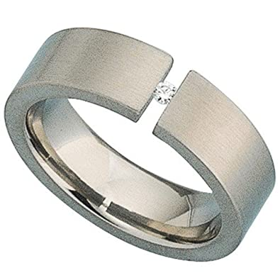 Ring for women ladies 'ring titanium with Diamond Titanium Ring