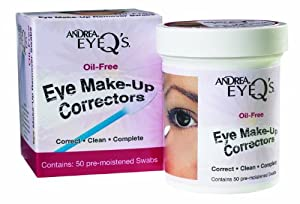 Andrea Eyeq's Oil-free Eye Make-up Correctors Pre-moistened Swabs, 50 Count (Pack of 6)
