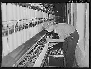 Photo: Greensboro,Georgia. In the Mary-Leila cotton mill