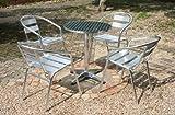 アルミ ガーデン5点セット 軽量で持ち運び簡単  ガーデンテーブル5点セット ガーデンファニチャー ガーデンテーブルセット ガーデンチェア ステンアルミ アルミテーブル ガーデンテーブル アルミチェア スタッキング キャンプチェア ステンレス アウトドア