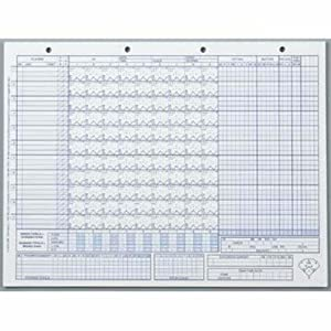 Amazon.com : Glover's Baseball / Softball Scoring Sheets (50 Games ...