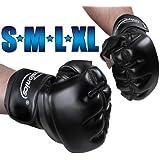Freefight Handschuhe MMA Boxhandschuhe (Größenwahl S-XL) Handgelenkverstärkung mit Klettverschluss