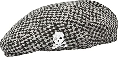 Sourpuss Unisex-baby Houndstooth Skull Jeff Cap by Sourpuss