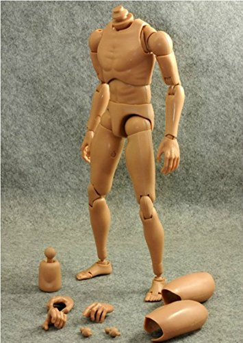 1:6 Scale Action Figure Narrow Shoulder Male Muscular Body Kids Toys Gift