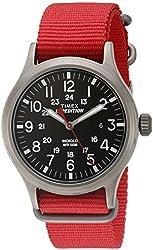 Timex Men's TW4B045009J Expedition Scout Analog Display Analog Quartz Red Watch
