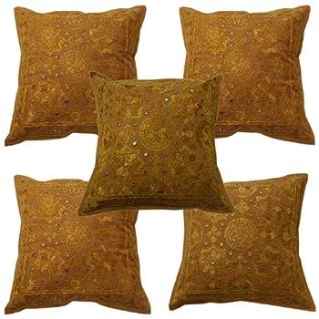 pas cher coussin ameublement couvre designer vintage indien housse de coussin ethnique taille. Black Bedroom Furniture Sets. Home Design Ideas