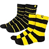 Borussia Dortmund Kuschelsocke 2er Pack Socke Gr 41-46 BVB Fanartikel