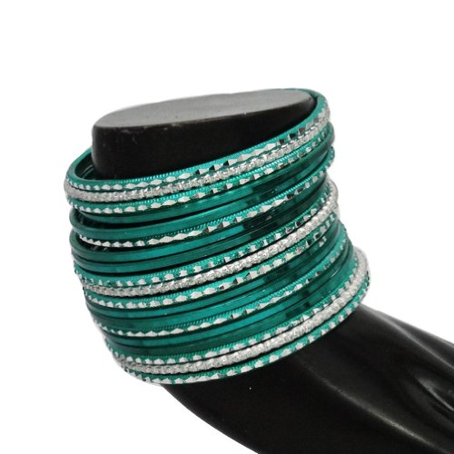 Indian Weddign Teal Green Bridal Bangle Bracelet Party Wear Women Costume Jewellery Churi Gift SZ 2*4