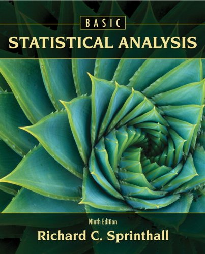 Basic Statistical Analysis (9th Edition)