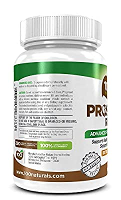 100 Naturals Prostate Rite: Advanced Prostate Supplement for Healthy Urinary and Prostate Function. Proprietary Formula with 30 Plus Ingredients Including Powerful Natural DHT Blockers Saw Palmetto, Beta-sitosterol, Lycopene, Uva Ursi Extract, Stinging Ne