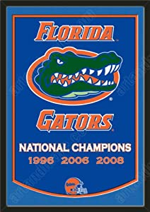 Dynasty Banner Of Florida Gators With Team Color Double Matting-Framed Awesome &... by Art and More, Davenport, IA