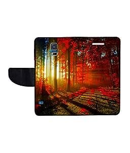 KolorEdge Printed Flip Cover For Samsung Galaxy S5 Multicolor - (50KeMLogo11133SamS5)