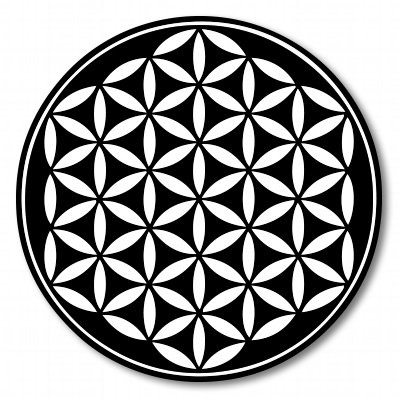 Flower of Life Black Sacred Geometry Vinyl Sticker - Car Window Bumper Laptop - SELECT SIZE (Ski Company Stickers compare prices)