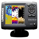 NEW Lowrance Elite-5 HDI Fishfinder Marine GPS Chartplotter 83/200 455/800 11145-001