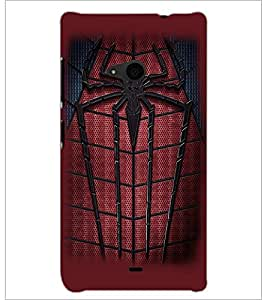 PrintDhaba Spider D-2261 Back Case Cover for MICROSOFT LUMIA 535 (Multi-Coloured)